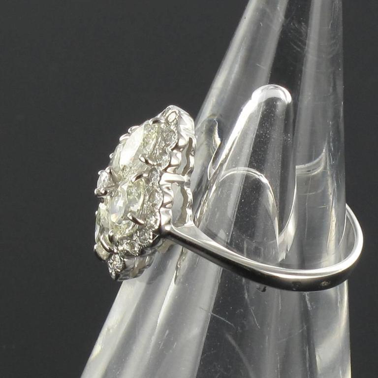 New Modern Marquise Diamond Gold Ring  7