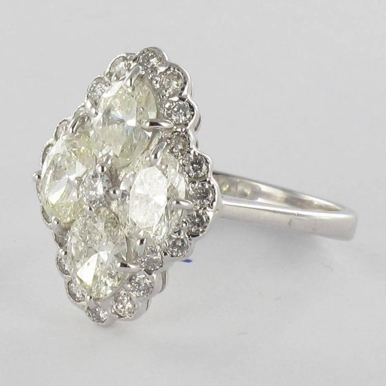 New Modern Marquise Diamond Gold Ring  4