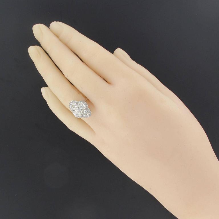 New Modern Marquise Diamond Gold Ring  3