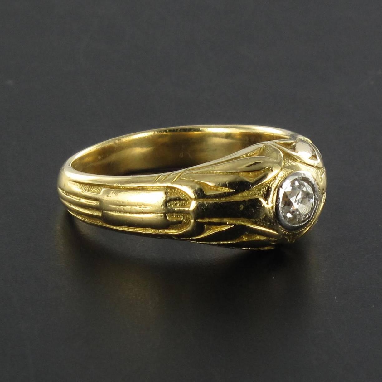 antique engraved men s gold signet ring at 1stdibs