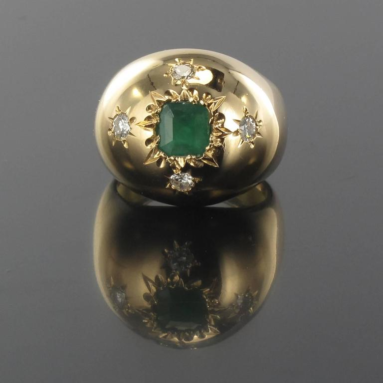 Ring in 18 carat yellow gold, owl hallmark. 