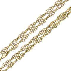 French 19th Century Rose Gold Matinee Chain Necklace