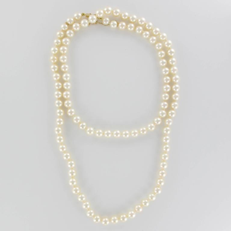 French 1950s Akoya Pearl Choker Necklace In New Condition For Sale In Poitiers, FR