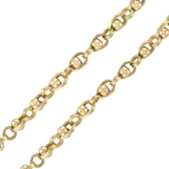 French 18 Karat Rose Gold Beads Chain Necklace