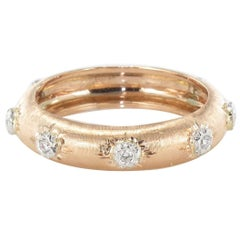 New Diamond Satin Gold Band Ring
