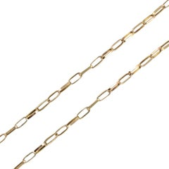 1960s Rectangular mesh 18 Karats Yellow Gold Chain Necklace