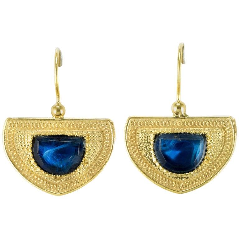 Etruscan Spirit Vermeil Crystal Drop Earrings