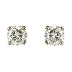New 18 Karat Diamonds Stud Earrings