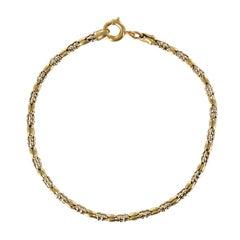 1960s 18 Karat Yellow Gold Thin Bracelet