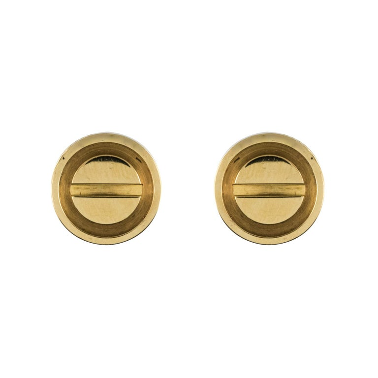 Cartier Love 18 Karat Yellow Gold Stud Earrings For