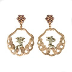 Italian Angel Motif Drop Earrings