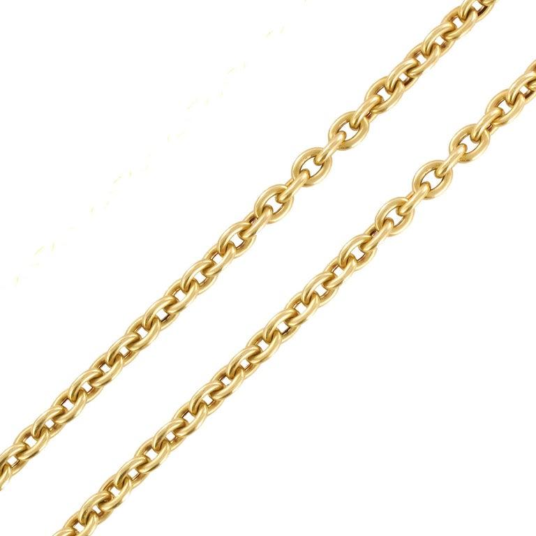 Napoleon 3 French 18 Karat Yellow Gold Massive Long Chain Necklace