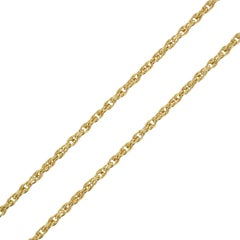 20th Century French 18 Karat Yellow Gold Chain Necklace