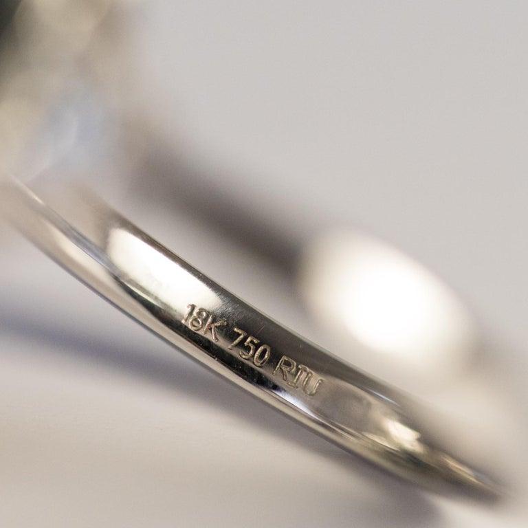 New Art Deco Style Baguette Diamond Black Agate Ring For Sale 7