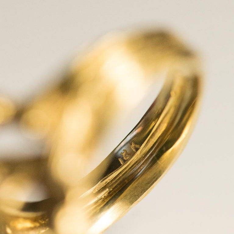 1960s Yellow Gold Jade Diamond Arthur King Spirit Modernist Ring For Sale 9