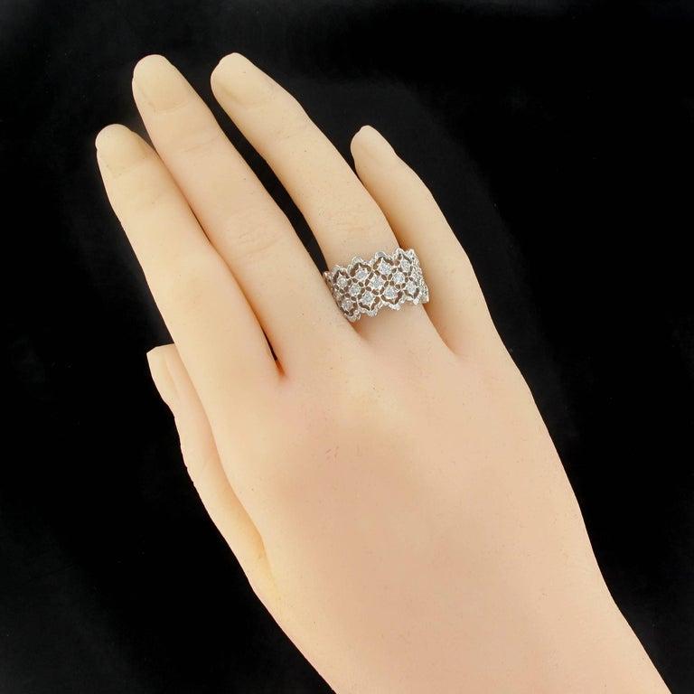 Renaissance New Diamond Gold Filigree Ring For Sale