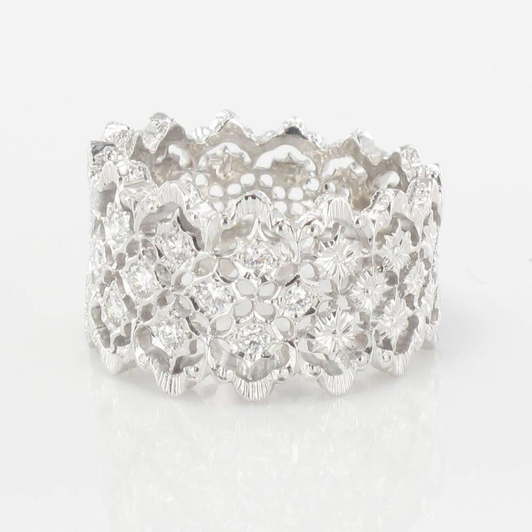 New Diamond Gold Filigree Ring In New Condition For Sale In Poitiers, FR