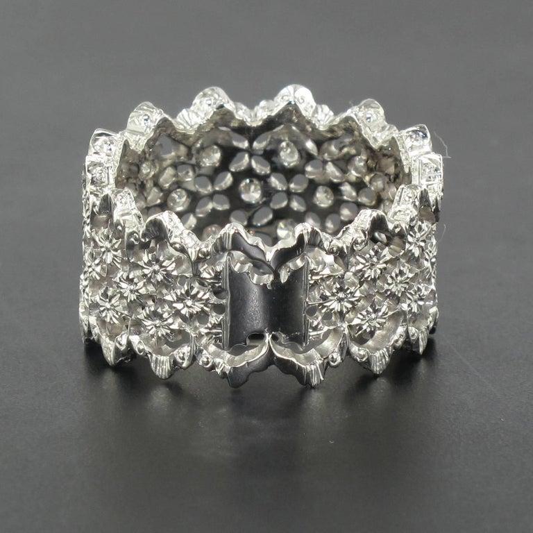 Women's New Diamond Gold Filigree Ring For Sale