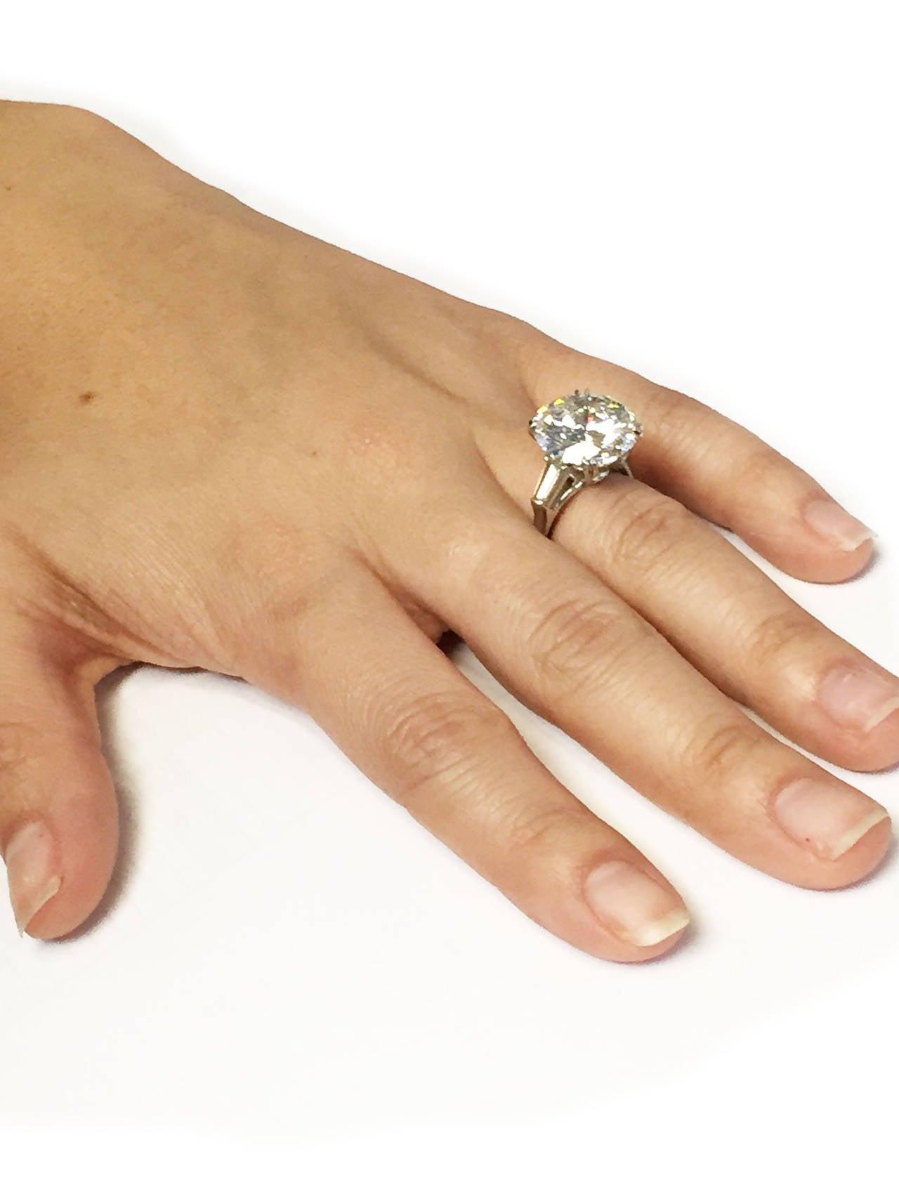 Women's Harry Winston 9.31 Carat Diamond Platinum Ring For Sale