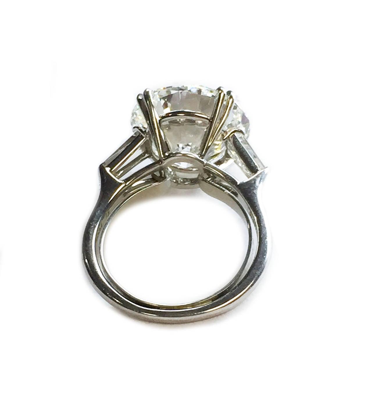 Harry Winston 9.31 Carat Diamond Platinum Ring 2