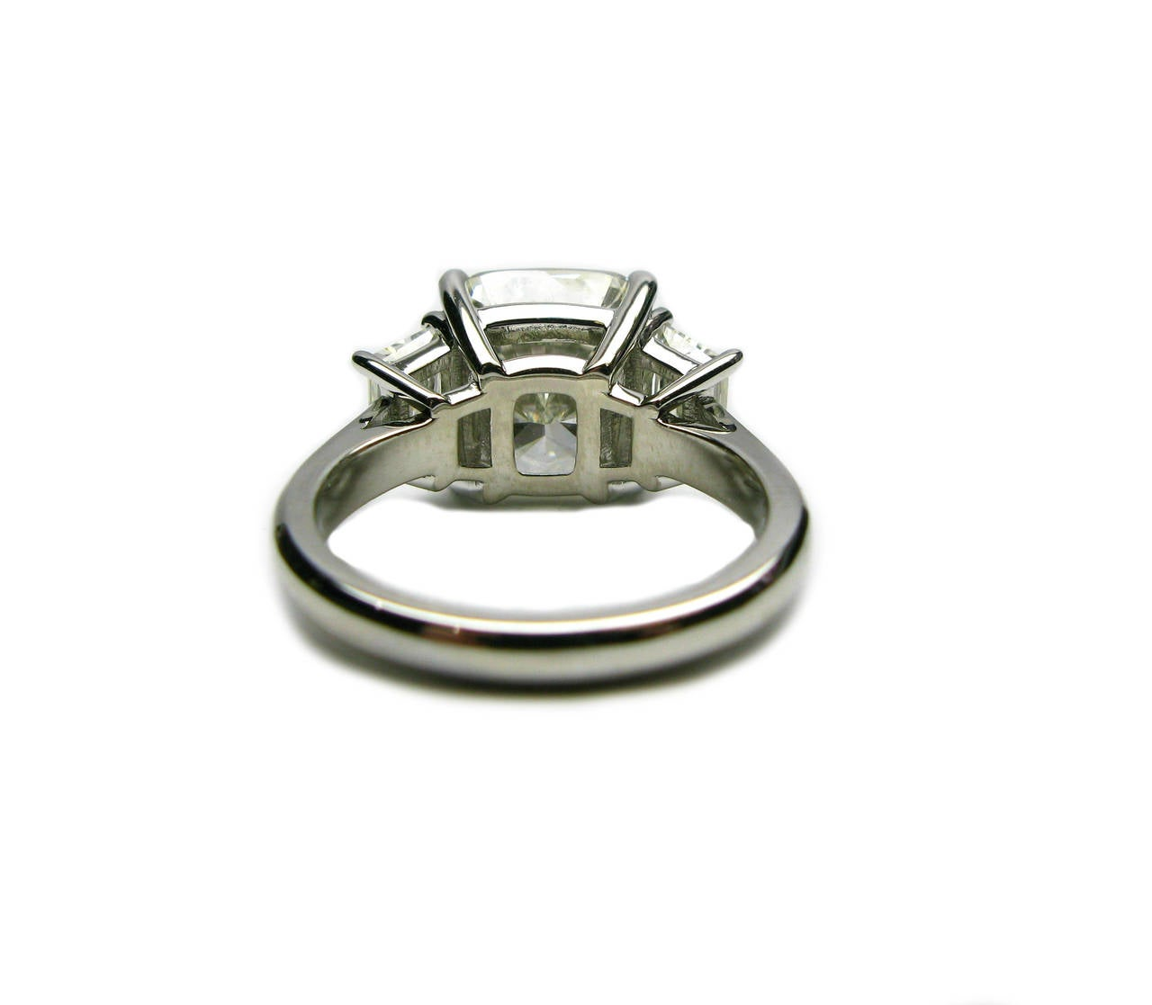 5.12 Carat Cushion Cut Diamond and Platinum Ring 3
