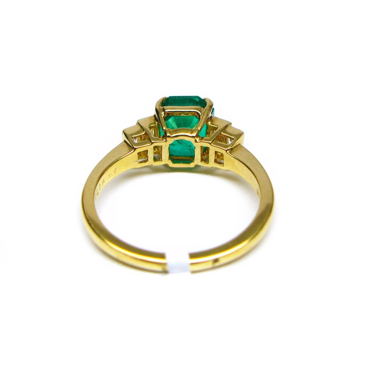 Kurt Wayne Emerald and Baguette Diamond Ring 3
