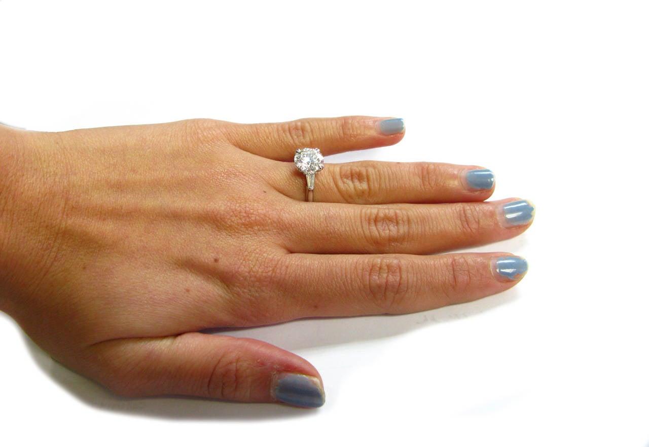 2.34Ct F VS1 Round Brilliant Harry Winston Diamond Ring 5