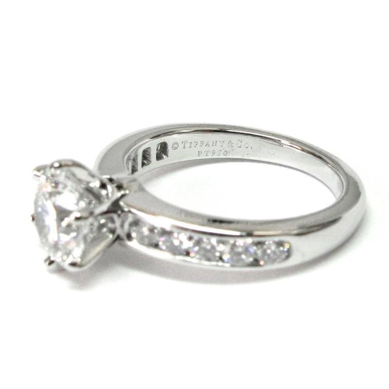 Tiffany & Co. 1.29 Carat GIA Certified Diamond Platinum Engagement Ring 3