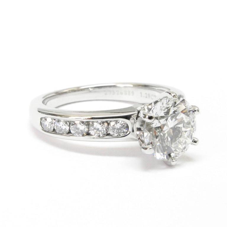 Tiffany & Co. 1.29 Carat GIA Certified Diamond Platinum Engagement Ring 2