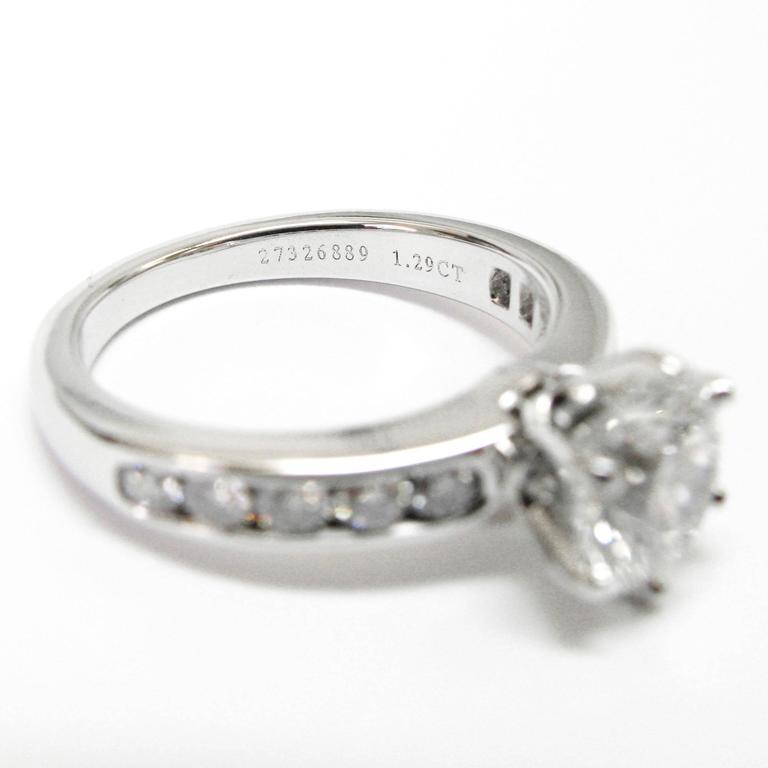 Tiffany & Co. 1.29 Carat GIA Certified Diamond Platinum Engagement Ring 4