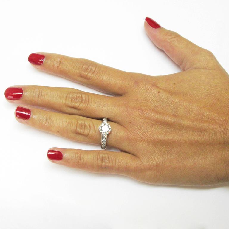Tiffany & Co. 1.29 Carat GIA Certified Diamond Platinum Engagement Ring 7