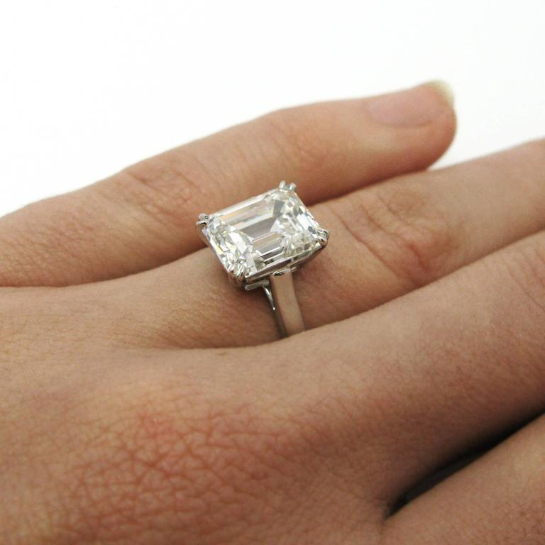 Tiffany And Co 4 12 Carat Gia Emerald Cut Solitaire