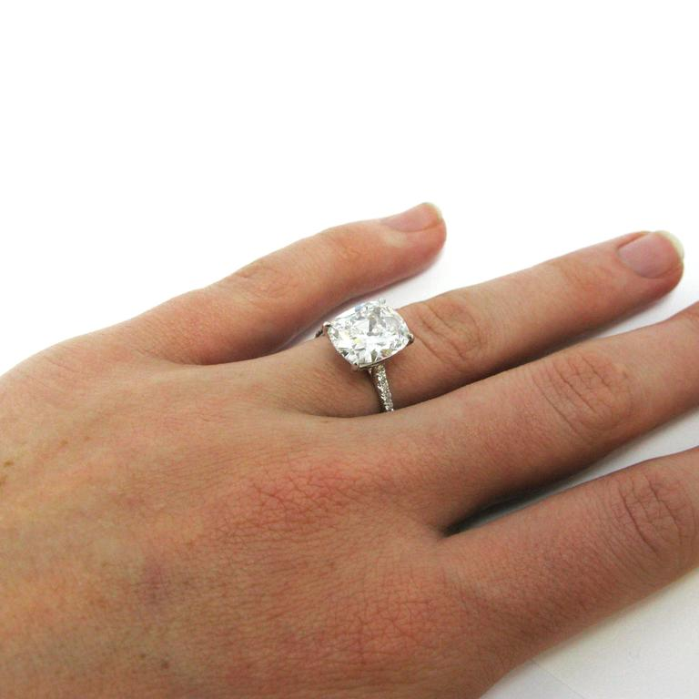 4 15 Carat Gia Certified Cushion Cut Diamond Engagement Ring