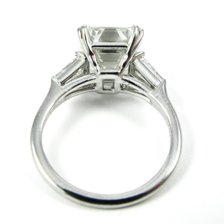 harry winston 4 01 carat emerald cut platinum ring