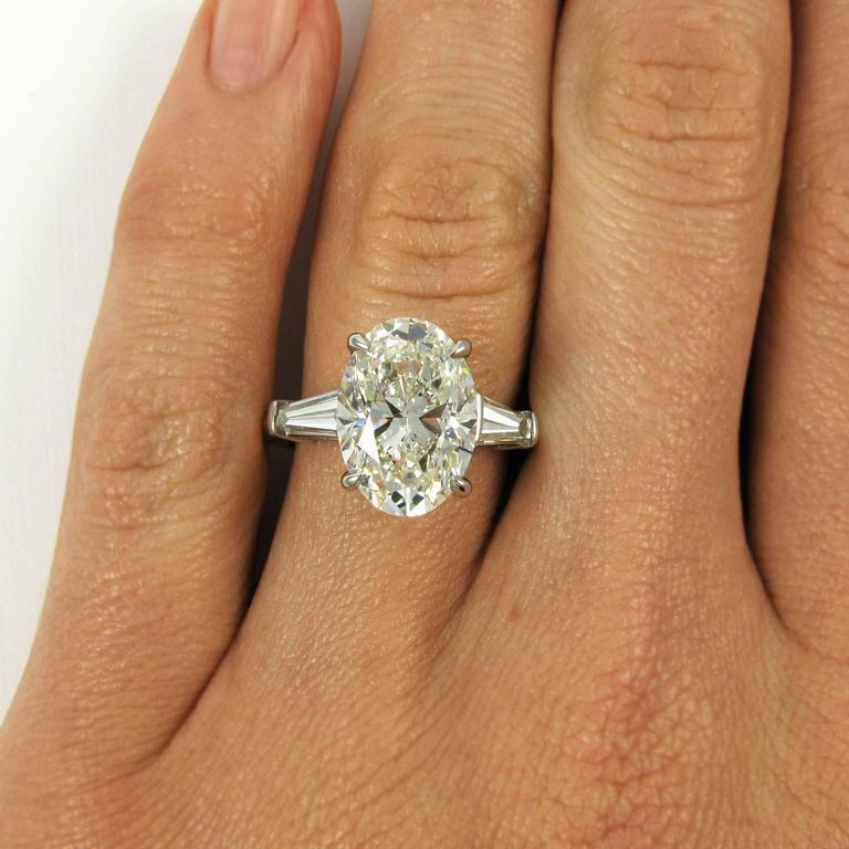 Gia Certified 5 01 Carat Oval Cut Diamond Classic Platinum