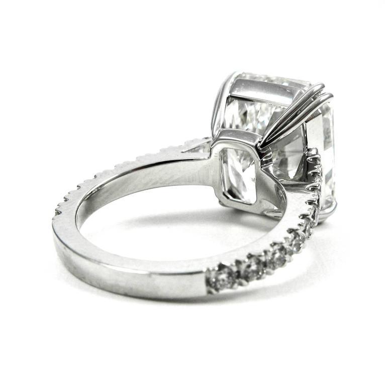 Stunning GIA Certified 9.28 Carat Radiant Cut Diamond Platinum Pave Ring 5