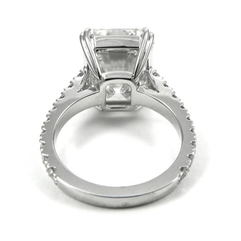 Stunning GIA Certified 9.28 Carat Radiant Cut Diamond Platinum Pave Ring 6