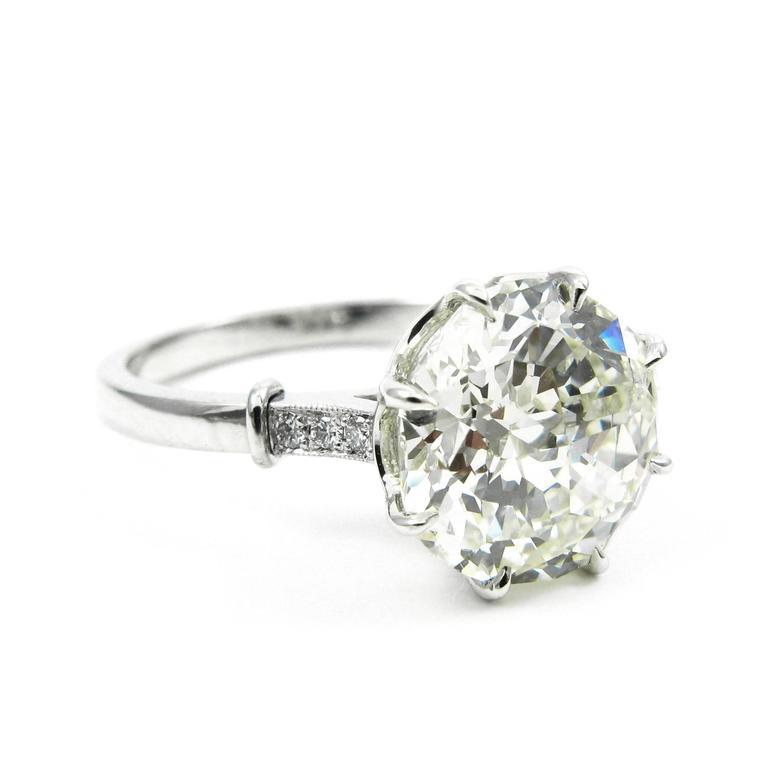 GIA Certified 3.04 Carat Jubilee Cut Diamond Platinum Engagement Ring 3