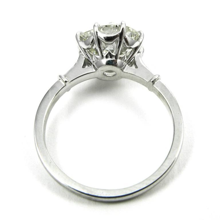 GIA Certified 3.04 Carat Jubilee Cut Diamond Platinum Engagement Ring 5