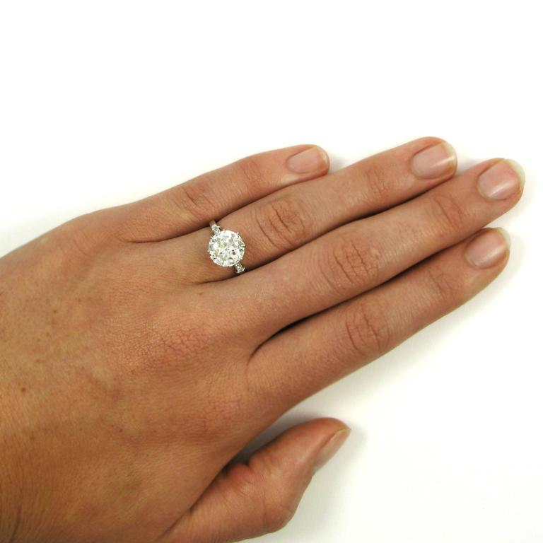 GIA Certified 3.04 Carat Jubilee Cut Diamond Platinum Engagement Ring 7