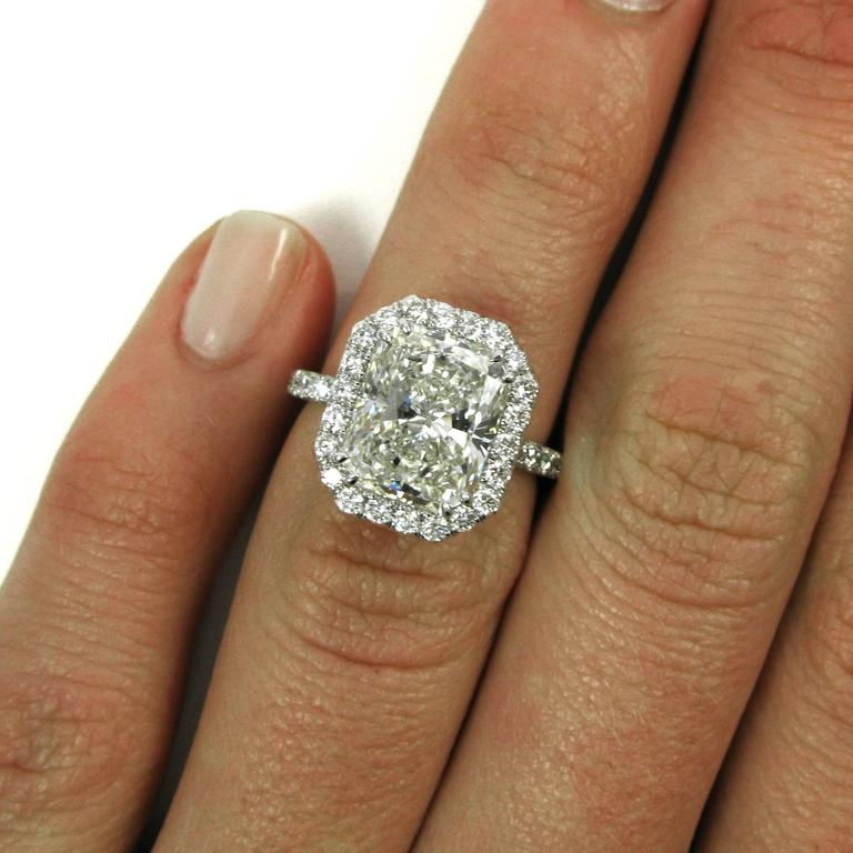 Radiant Diamond Ring For Sale