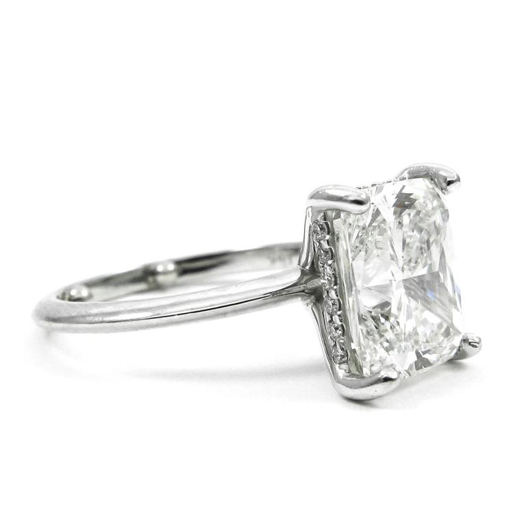 GIA Certified 4 01 Carat Cushion Cut Diamond Solitaire Engagement Ring For Sa
