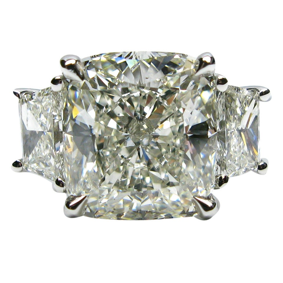 5.12 Carat Cushion Cut Diamond and Platinum Ring 1