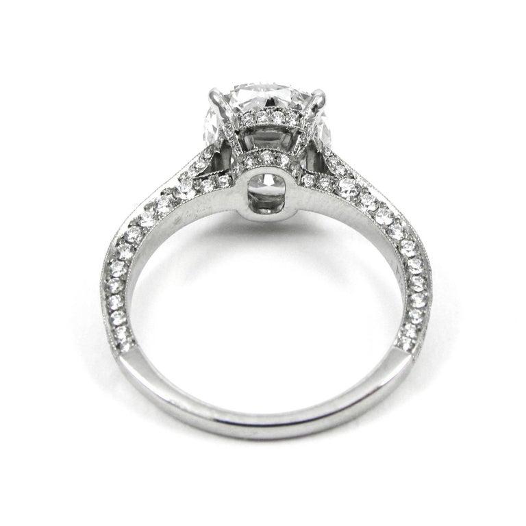 gia certified 315 cushion cut diamond platinum pave