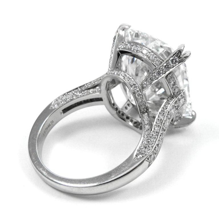 Tiffany & Co. GIA  17.06 Ct D Internally Flawless Type IIA Cushion Diamond Ring For Sale 1
