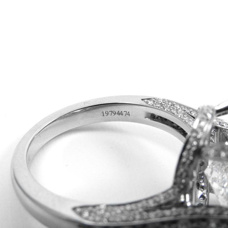 Tiffany & Co. GIA  17.06 Ct D Internally Flawless Type IIA Cushion Diamond Ring For Sale 2