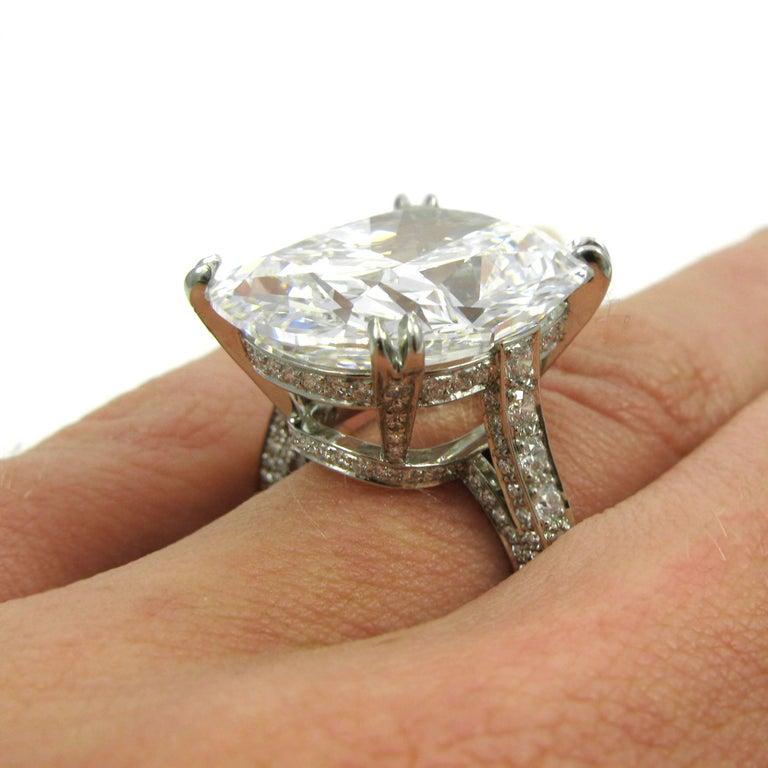 Tiffany & Co. GIA  17.06 Ct D Internally Flawless Type IIA Cushion Diamond Ring For Sale 5