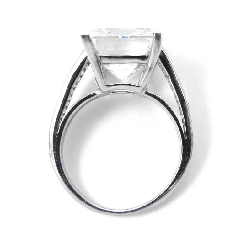 Women's Harry Winston 7.45 Carat GIA Certified F VS1 Emerald Cut Ring For Sale