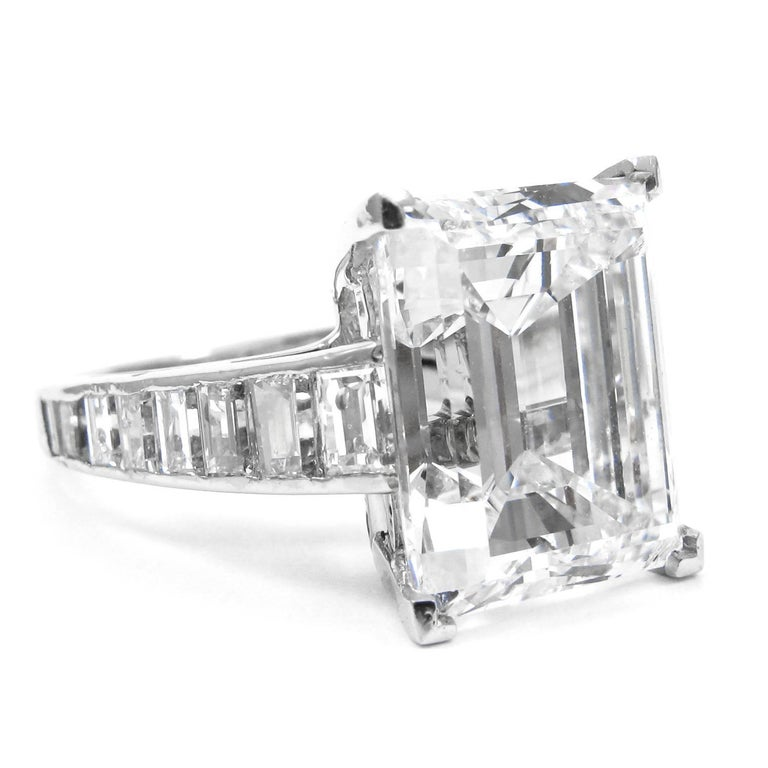 Contemporary Harry Winston 7.45 Carat GIA Certified F VS1 Emerald Cut Ring For Sale