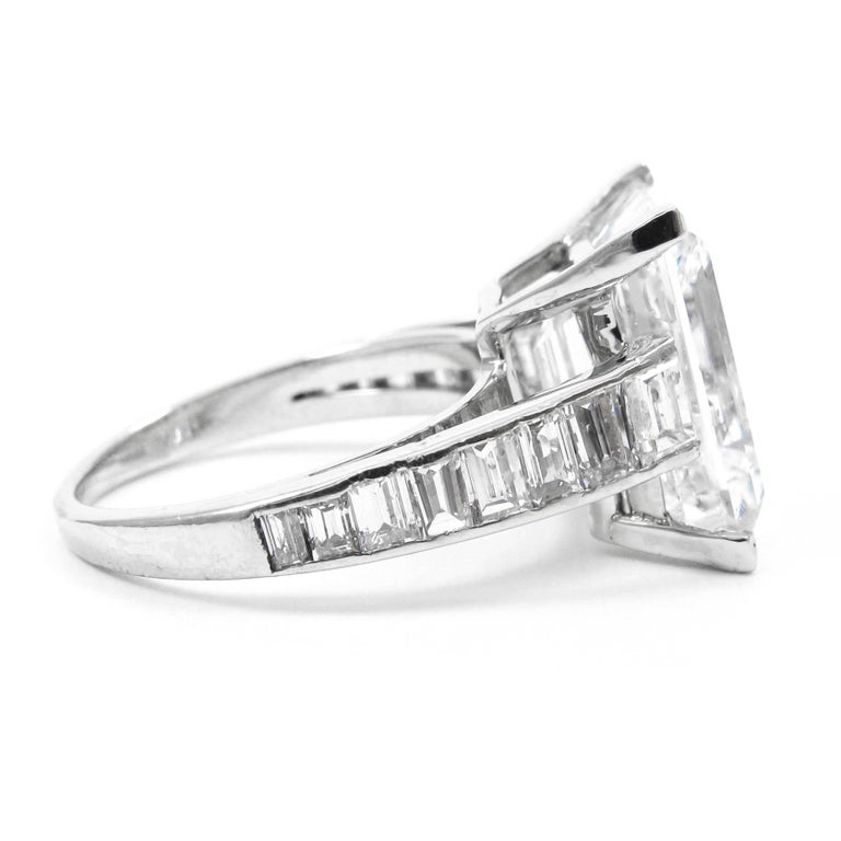 Harry Winston 7.45 Carat GIA Certified F VS1 Emerald Cut Ring In New Condition For Sale In New York, NY